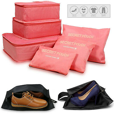 Travel Waterproof Travel Storage Bags Packing Cube Luggage Pouch With Shoe Bags