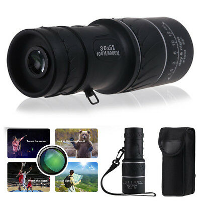 Day Night Vision 30X 52 Dual Focus Optics Zoom Lens Hunting Telescope Monocular
