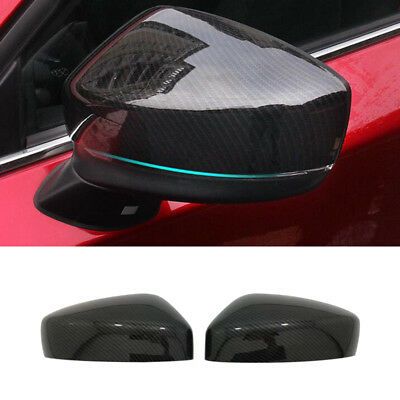 Sport Carbon Fiber Rearview Mirror Cover Trim For Mazda CX-5 2017 Accessory