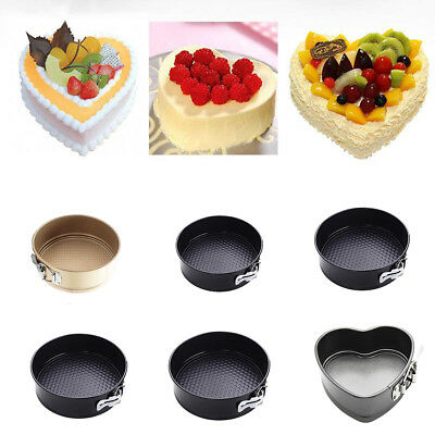 Springform Cake Storage Tins Non Stick Coating Pan Tray Quick Release Pick