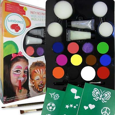 Face Paint Kit for Kids Paints 80 Faces Professional Quality Childrens Painting