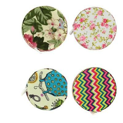 150cm / 60inch Sewing Cloth Retractable Ruler Tape Measure Pocket Fabric Covered