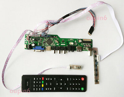 TV HDMI LCD LED VGA CVBS RF Controller kit for LP171WP4 LP171WX2 1440x900 Panel