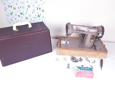 Heavy Duty Singer 185K Electric Sewing Machine, sews Leather,Serviced & PAT test