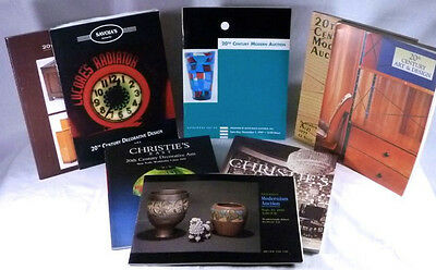 Eight 20th Century Design Catalogs -Rago, Treadway + Christies Auctions 1991-99