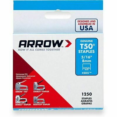 "Arrow Staples T50 5/16""- 8mm (Box Of 1250)"