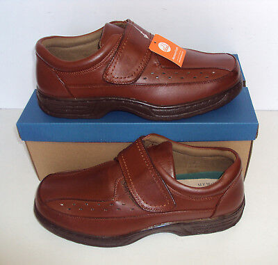 Mens Wide Fit Shoes Comfort Casual Tan Brown Memory Foam New Sizes 6 7 8 9 10 11