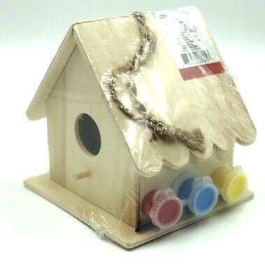 Wooden Birdhouses Unfinished Paint Your Own Bird House 5 Made In Usa 40320