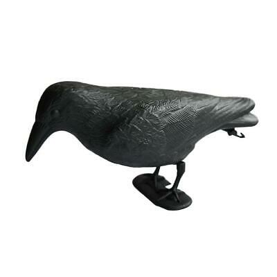 Crow Decoy Garden Pest Deterrent Scarer Full Body Flocked Raven Pigeon Scarecrow