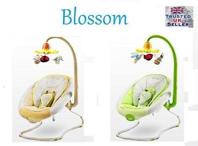Caretero BLOSSOM Bouncer Baby Swing with Carousel Vibration Next Day Delivery