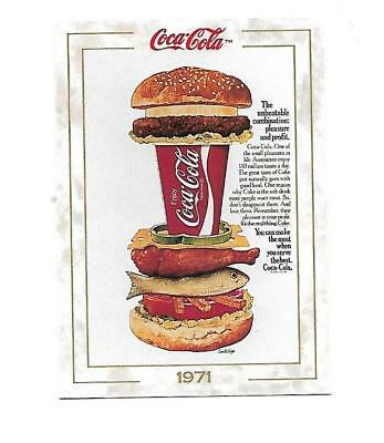 Coca Cola Collection (1993) 1971 # 78 the Unbeatable Combination Hamburger fish