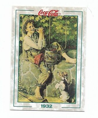 Coca Cola Collection Series 2 (1994) 1932 # 137 Norman Rockwell Boy Bucket Dog