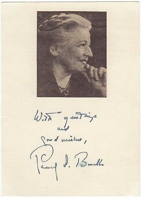 Pearl S. Buck (Nobel Prize in Literature) – signature mounted with photograph