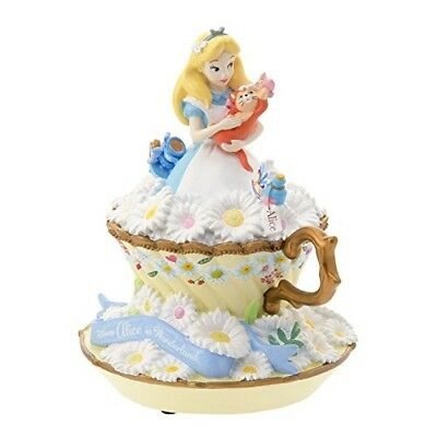 Alice with figure music box Garden Fantasy Disney with Tracking Number