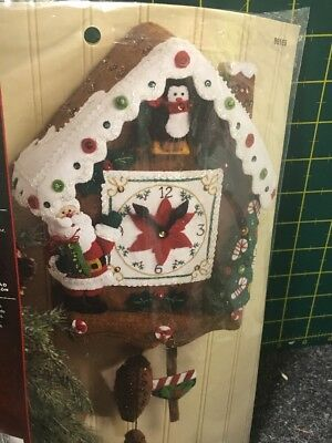 Plaid Bucilla Christmas Time Home Decor DIY Appliqué Kit Rare