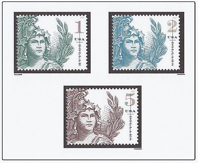 Scott #5295 5296 5297 Statue of Freedom Singles $1 $2 $5 (Complete Set of 3) MNH