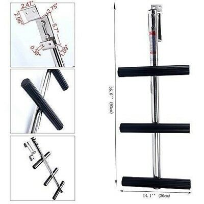 Dive Ladder with Bracket 3 Step Stainless Transom Diving Boat Boarding Marine
