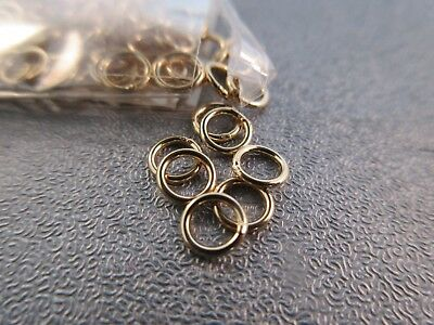 14K Gold Filled 5mm Closed Jump Rings 10pcs