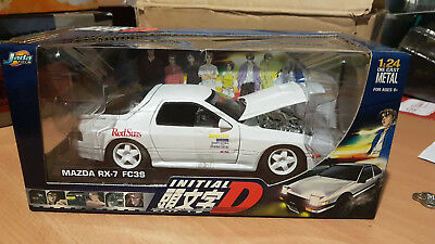 INITIAL D MAZDA rx7 FC3S Takahashi Rotary 1:24 DIE CAST METAL (UNOPENED)