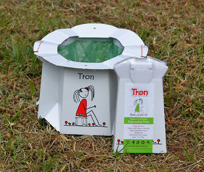 Tron Flat Packed Disposable Potty - 3 Pack - Perfect for travel, etc - FREE DEL