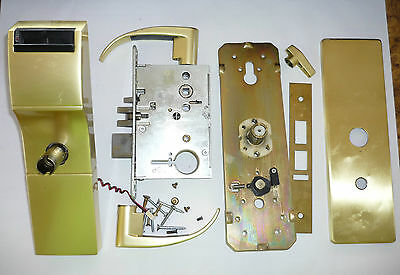 Used Tesa Onity Hotel Lock HT24i Satin Brass Gold Color saflok Vingcard Ilco