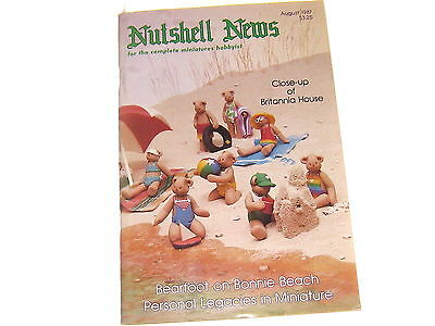#2376 1987 August  Nutshell News Minatures Magazine For Creators & Collectors