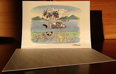 Kliban Cat Collectible Greeting Card with Envelope UNUSED Vacation Cat