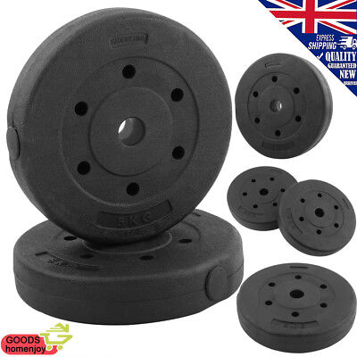 Weight Plates Set Free Dumbell Vinyl 1 inch Standard 5kg 10kg 20kg Gym Barbell