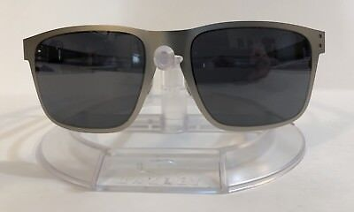 ee3e0df557f NEW OAKLEY HOLBROOK Metal Sunglasses OO4123-03 Satin Chrome