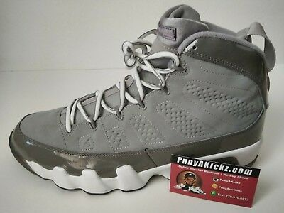 new products 13fab c5eb2 2002 Nike Air Jordan Ix 9 Retro Cool Grey White Black 302370-011 Sz 13