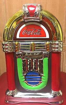 Gibson COCA~COLA Rock N' Roll Jukebox Cookie Jar-- 2002--Dispalyed Only w/Box