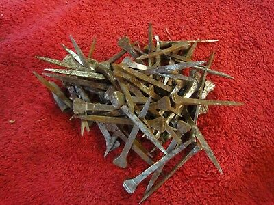 """65 lot Spikes Old NAILS Square Head Rusty Iron Rustic Vintage  approx 2"""""""