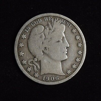 1906 50C Barber Half Dollar Circulated Us Coin Type