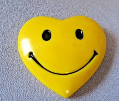 Happy Happy! Smiley Yellow Heart Face S Collectible Magnet More Smiles.. Needed!
