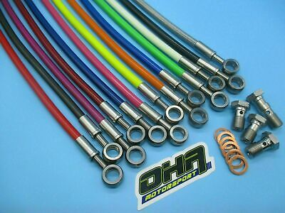 OHA Stainless Braided Front Brake Lines for Kawasaki ZX9R Ninja 1998 1999 NEW