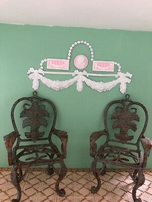 Set of 2 VINTAGE METAL CHAIRS  -   DOLL HOUSE MINIATURE Garden or Porch