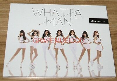 I.O.I IOI Whatta Man 1st Single Album K-POP CD + PHOTO CARD + FOLDED POSTER NEW