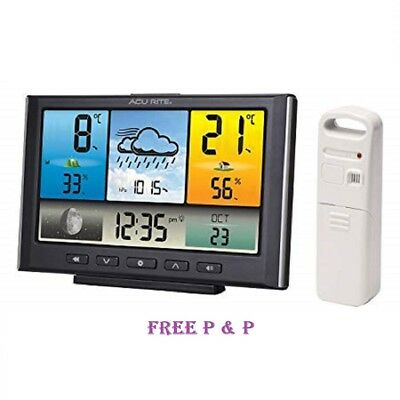 AcuRite Weather Station with Colour LCD Display and Wireless Outdoor Sensor UK