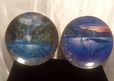 Hamilton Collection Plates Sanctuary Of The Dolphins & Rhapsody Of Hope