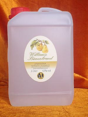 3L,  Johann`s  Williams Christ Birnenbrand 42%, Obstbrand