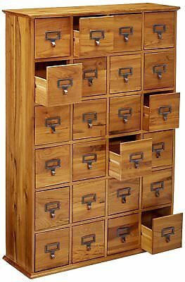 Multimedia Storage Cabinet 24 Drawer Tall Oak Cabinet Library Card Catalog File & TALL OAK CABINET Library Card Catalog 24 Drawer Multimedia Storage ...