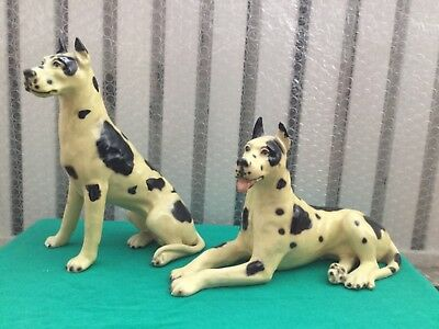 Pair Rare collectible Mortens Studio big pointer 1950s hunting dogs