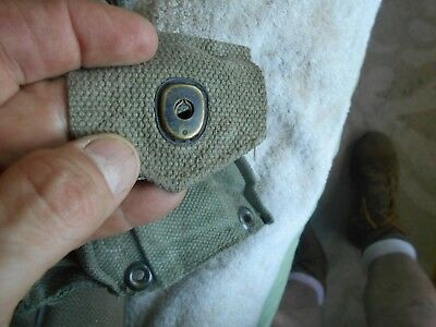 original WW2 US M-1 garand rifle cartridge belt 10 pocket