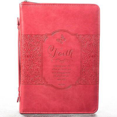 Faith in Pink Hebrews 11:1 Bible Cover, Size Large