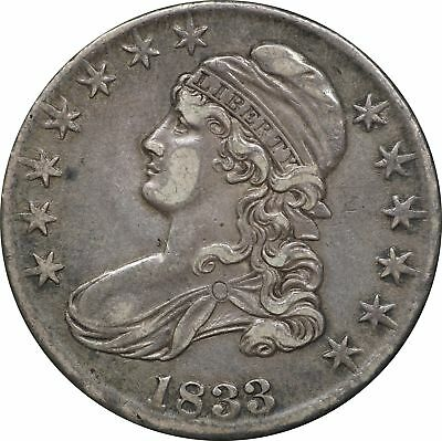 1833 Capped Bust Half Dollar, XF 50C Extremely Fine
