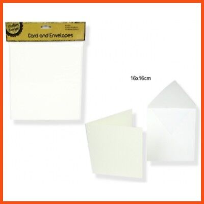 96 x MEDIUM BLANK WHITE CARDS W/ ENVELOPE Custom Card Photos Craft Scrapbooking