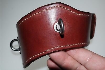 BDSM Handmade Red Leather Posture collar with a Lock