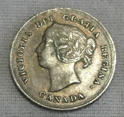 Canada 5 Cent 1898 (Nickel) (92.5% Silver) Coin