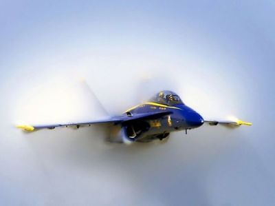 8x10 Print Navy Blue Angels F 11 S Fly Near Mt Rushmore