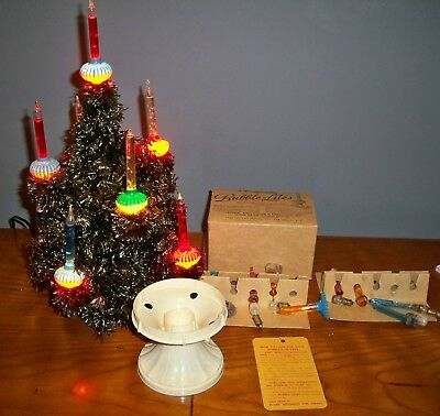 vintage noma christmas tree with 9 bubble lights original shipping box